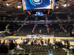 Madison Square Garden for Jimmy V Classic with Rece Davis on ESPN set.